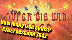 How many free spins? - Crazy Session! 764x and bonuses - Online Slots - Casumo - The Reel Story