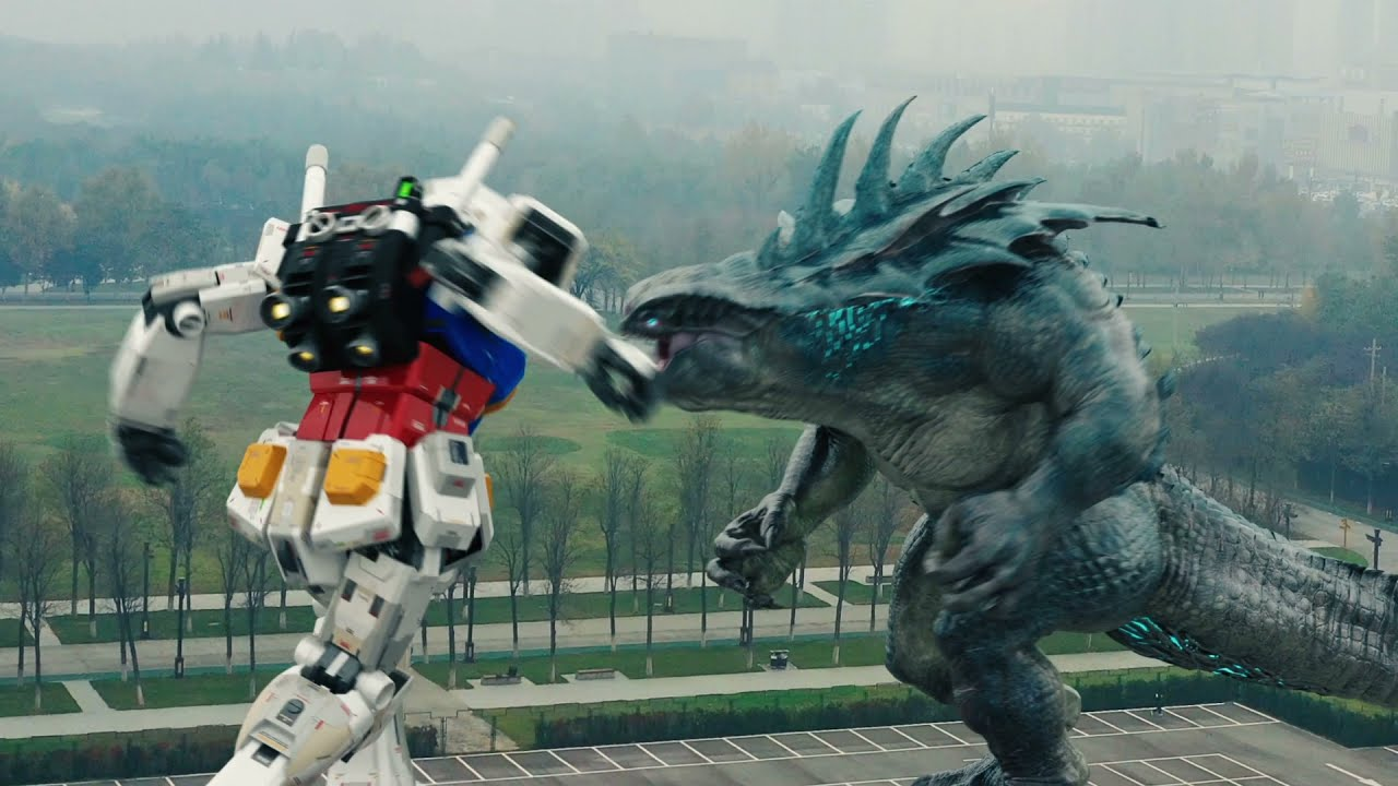 GUNDAM Vs.Monster is very cool!机甲高达霸气出场,怪兽瞬间被秒!