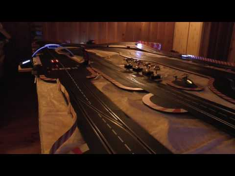 "Carrera Digital 132 Slot cars. The ""Dark hour Race"""