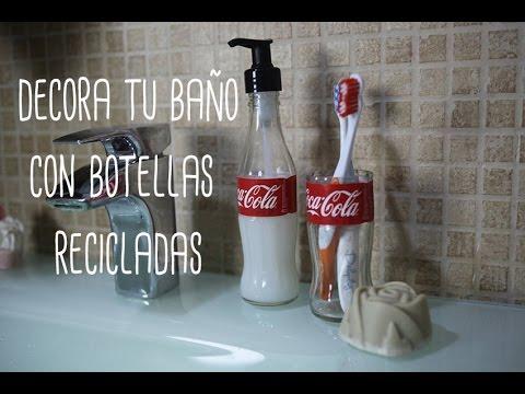 Decora el ba o con botellas recicladas como cortar - Como cortar botellas de vidrio ...