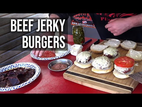 Beef Jerky Burgers by the BBQ Pit Boys