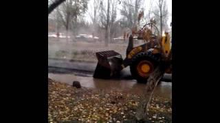 Ремонт дорог Самара 27.10.15 Московское шоссе 122