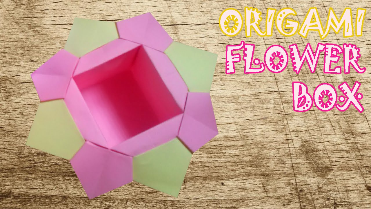 Origami flower box origami easy youtube origami flower box origami easy mightylinksfo
