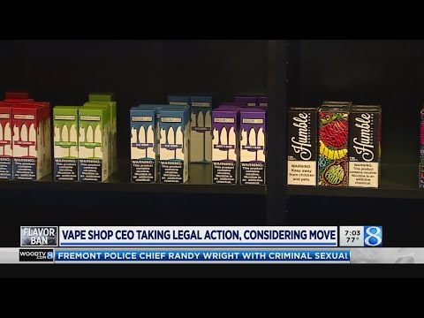 Vape shop CEO taking legal action, considering move