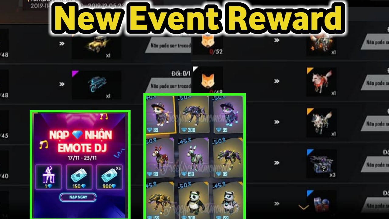 Free Fire New Event Reward | New Topup Event | Pet Discount , New Update | Free Jeep Skin
