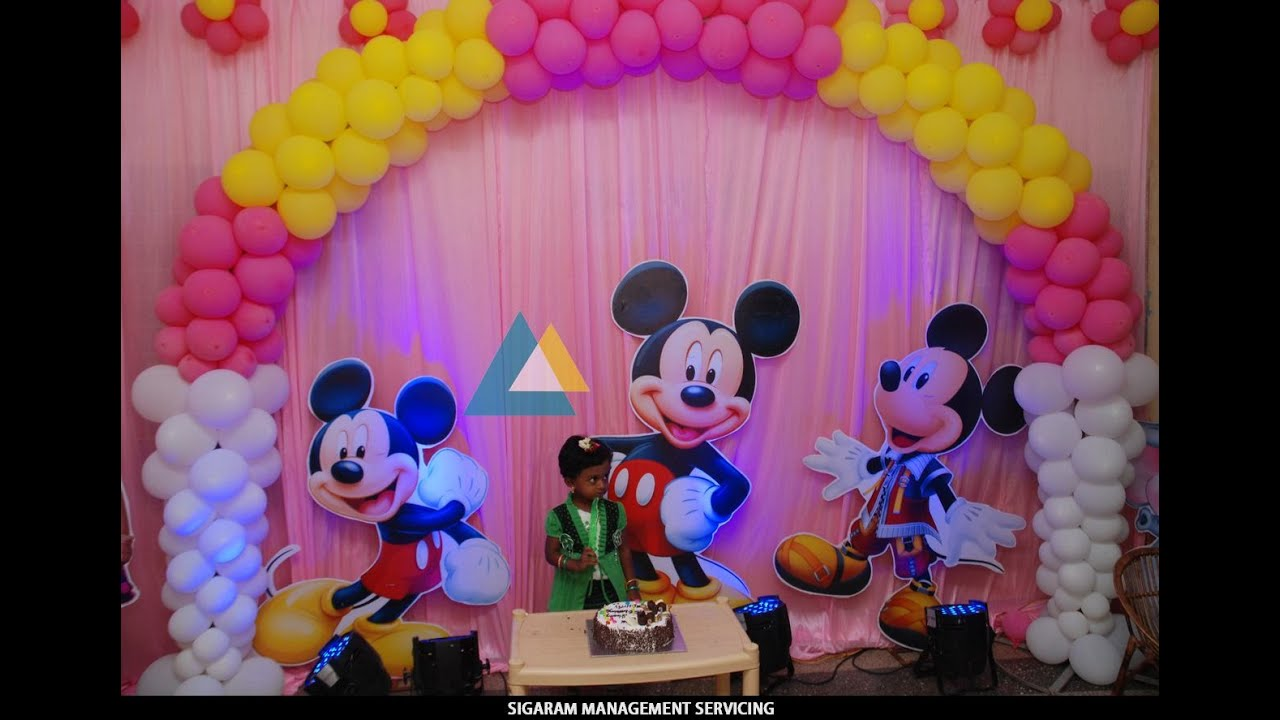Birthday party decoration at home themed birthday for Balloon decoration in chennai