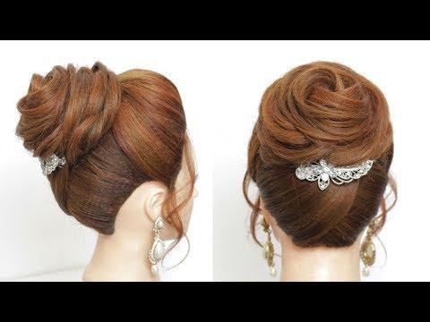 wedding-updo-for-long-hair-:-flower-bun.-prom-hairstyles-tutorial.