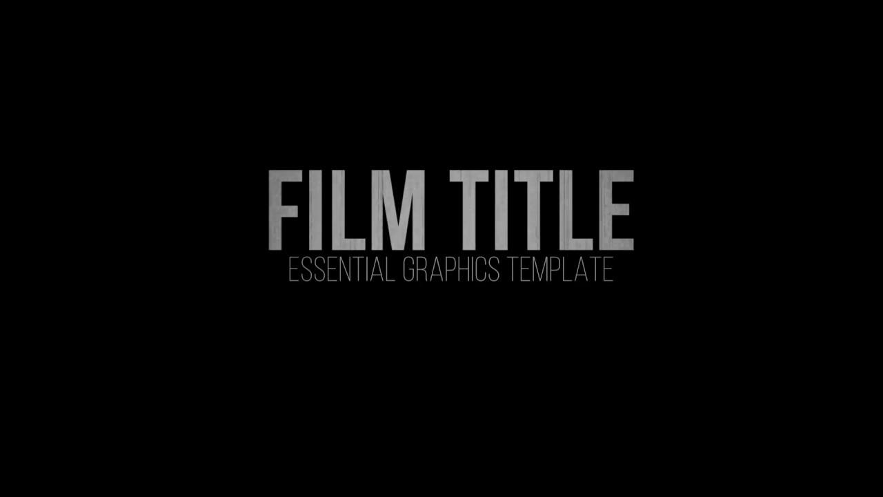Rampant Film Title Essential Graphics Template for Premiere Pro