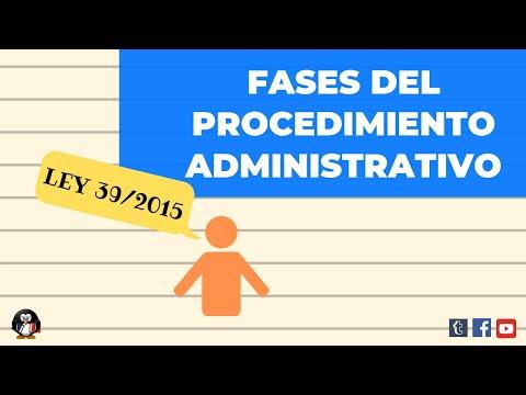 LEY 39/2015. FASES DEL PROCEDIMIENTO ADMINISTRATIVO