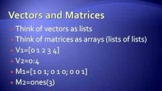 Matlab Introduction for beginners Part 1