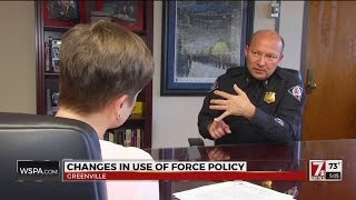 "Greenville Police Chief changes ""use of force"" policy in wake of national outcry"