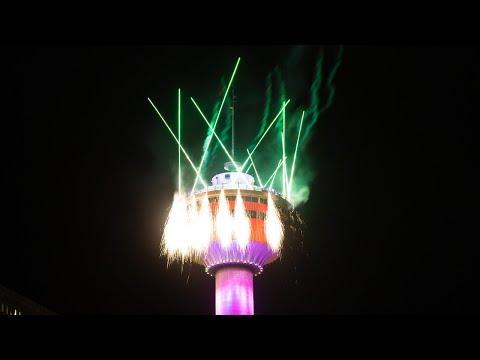 2020 New Year's Eve Fireworks In Calgary, Alberta, Canada