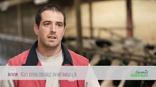 Mathieu, éleveur de vaches laitières dans l'Ain