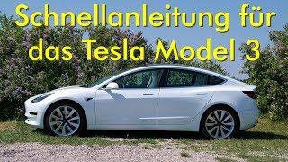 Schnellanleitung für das Tesla Model 3