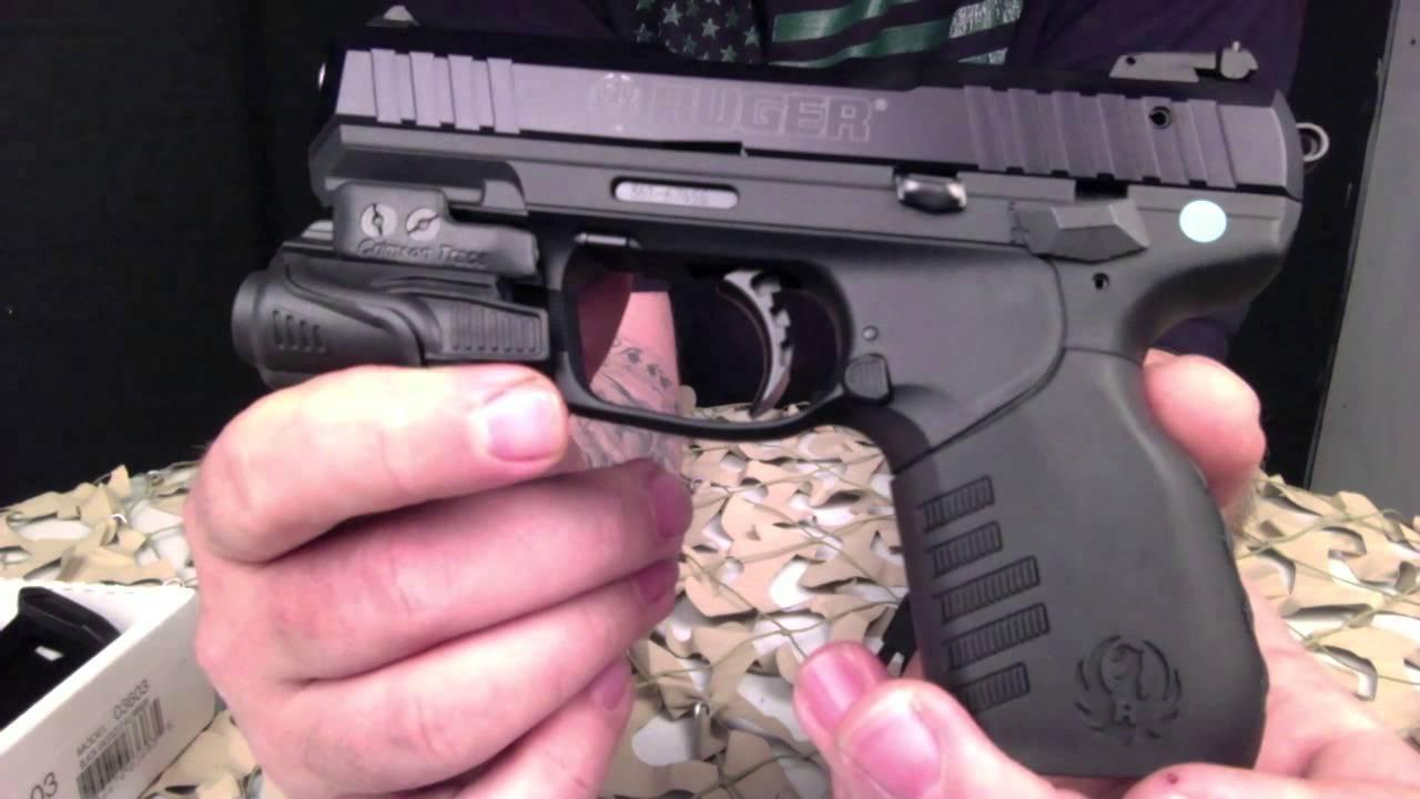 Ruger Sr22 22lr Pistol With Crimson Trace Flashlight