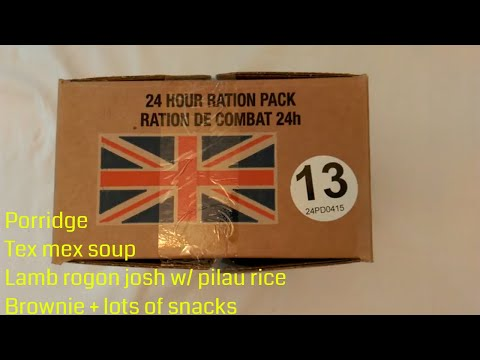 British army 24hr ration pack Menu 13 (PD0415) review