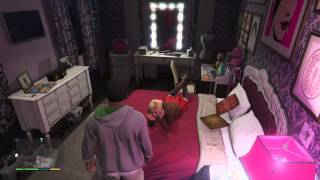 Grand Theft Auto V Franklin catches Amanda playing with pink tooth brush [Ps4-NextGen-FirstPerson]