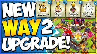New Town Hall Upgrade Boost | No Resource Army in Clash of Clans June Update Quality of Life Changes