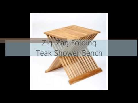 Teak Shower Bench Toronto | Teak Bath Stools | Folding Shower Seat