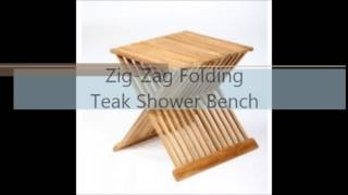 Teak Shower Bench Toronto | Teak Bath Stools | Folding Shower Seat