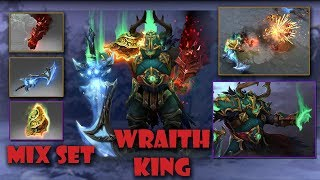 Dota 2 Wraith King Best Mix Set Blistering Shade of the Crimson Witness - Winterblight-Haunted Lord