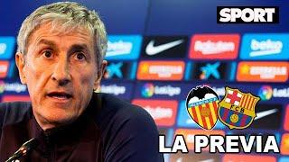 RUEDA DE PRENSA DE QUIQUE SETIÉN🎙 VALENCIA - FC BARCELONA: