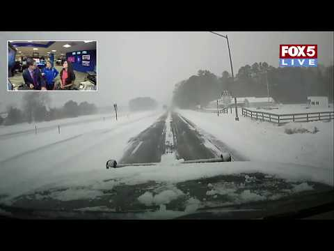 """FOX 5 LIVE (1/4): SNOW in Ocean City,  Md., NY and N.E. in overnight """"bomb cyclone"""""""