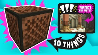 10 Things You Can BUILD with a Noteblock in Minecraft