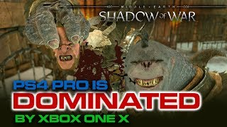 Shadow of War is TRULY 4K on Xbox One X - PS4 Pro is NOT