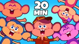 Five Little Monkeys Jumping On The Bed | Nursery Rhymes | Plus Lots More Rhymes For Kids