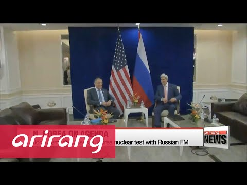 Kerry discusses N. Korea nuclear test with Russian FM