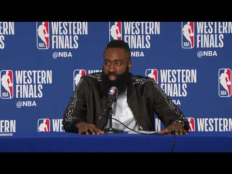 James Harden Postgame Intervie warriors