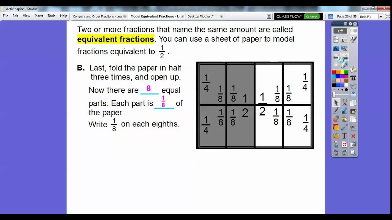 Model Equivalent Fractions