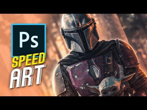 The Mandalorian | Speed Art (photoshop)