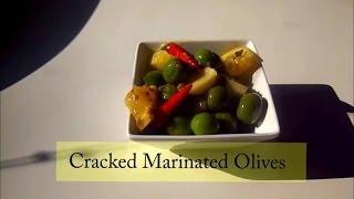 Spanish Tapas Cracked Marinated Olives
