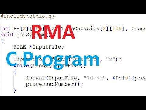 RMA scheduling c code - rate monotonic scheduling c program