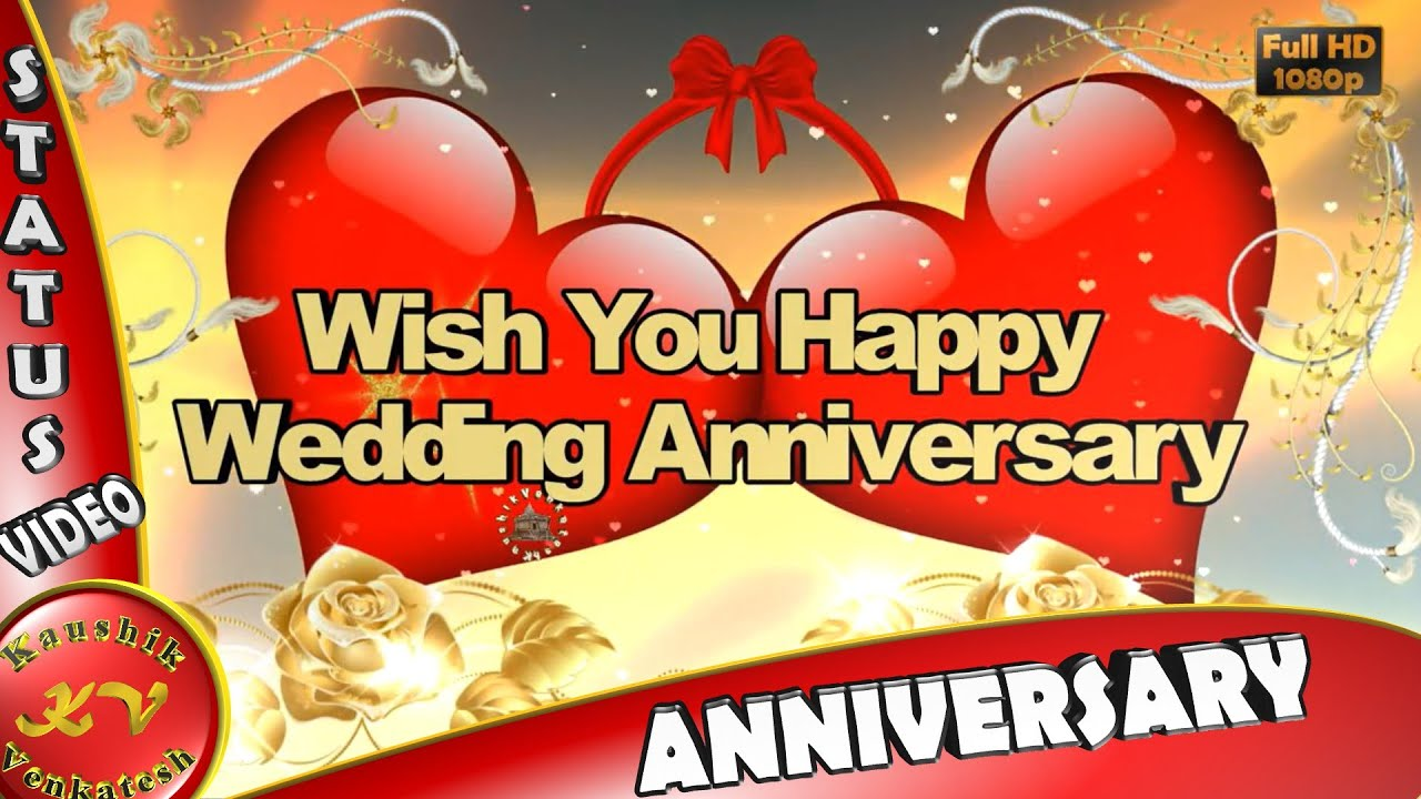 Happy Wedding Anniversary WishesWhatsapp VideoGreetingsAnimationMessages QuotesDownload