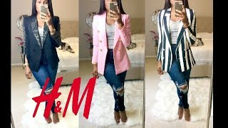 The Perfect H&M Blazer- H&M Blazer Haul- Pro Tips Made Easy