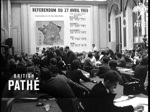 French Referendum Result Leads To De Gaulle Resignation 1969