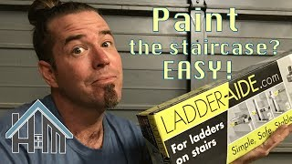 How to paint a stair case! Easy! Home Mender.
