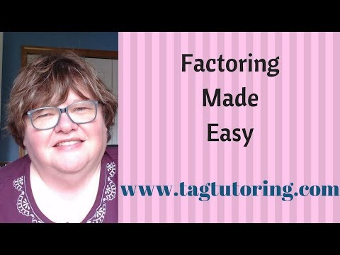 Factoring Made Easy   www tagtutoring com