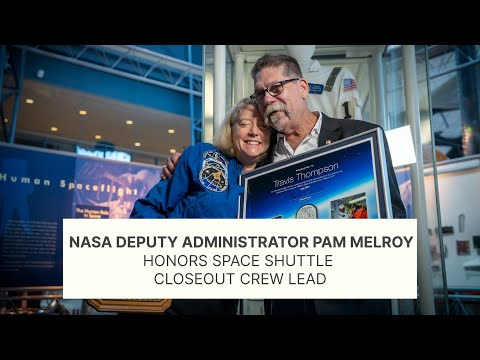Deputy Administrator Pam Melroy Honors Space Shuttle Closeout Crew Lead