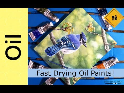 Fast Drying Oil Paints + Blue Jay in Oils Demo