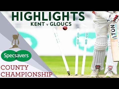 Bowlers Dominate Low Scoring Game: Kent v Gloucs - County Championship 2018 Highlights