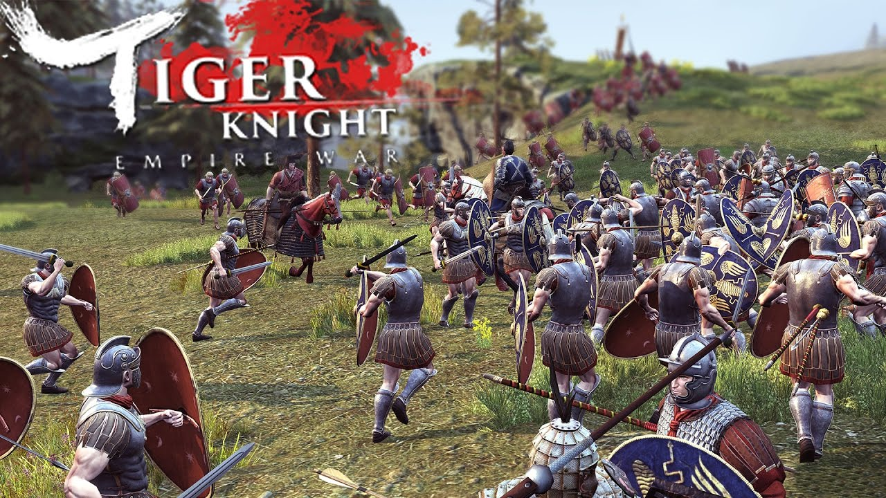 Tiger Knight: Empire War - Huge Scale Warfare - Attack of the Romans! (Roman Expansion Gameplay)