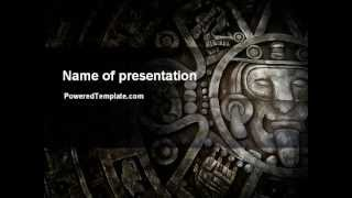 Pre-Columbian Art PowerPoint Template by PoweredTemplate.com