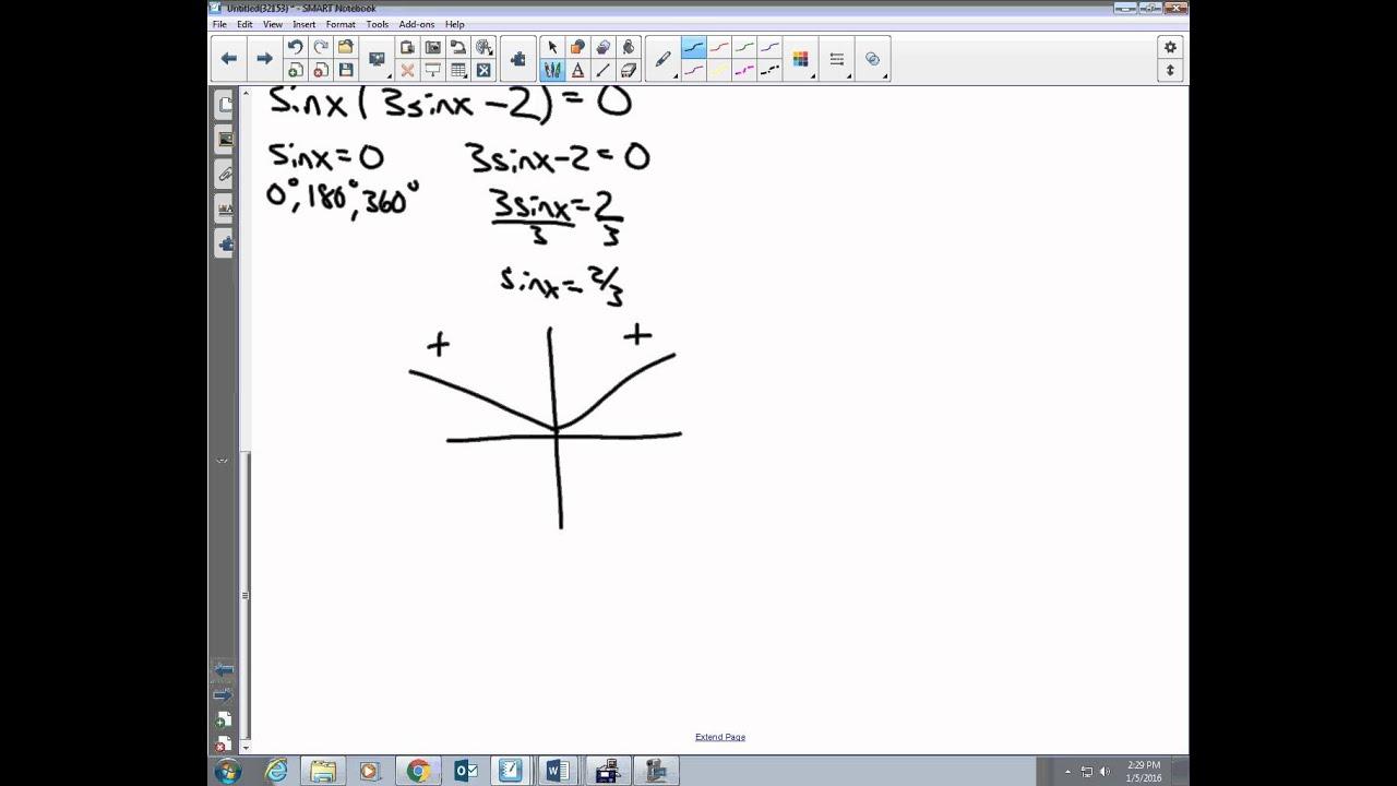 Plane Trigonometry Unit 2 3 Notes Solving Difficult Trigonometric Equations
