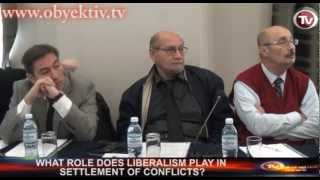 WHAT ROLE DOES LIBERALISM PLAY IN SETTLEMENT OF CONFLICTS