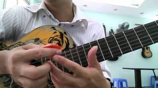 Hướng dẫn điệu Rock trên guitar thùng