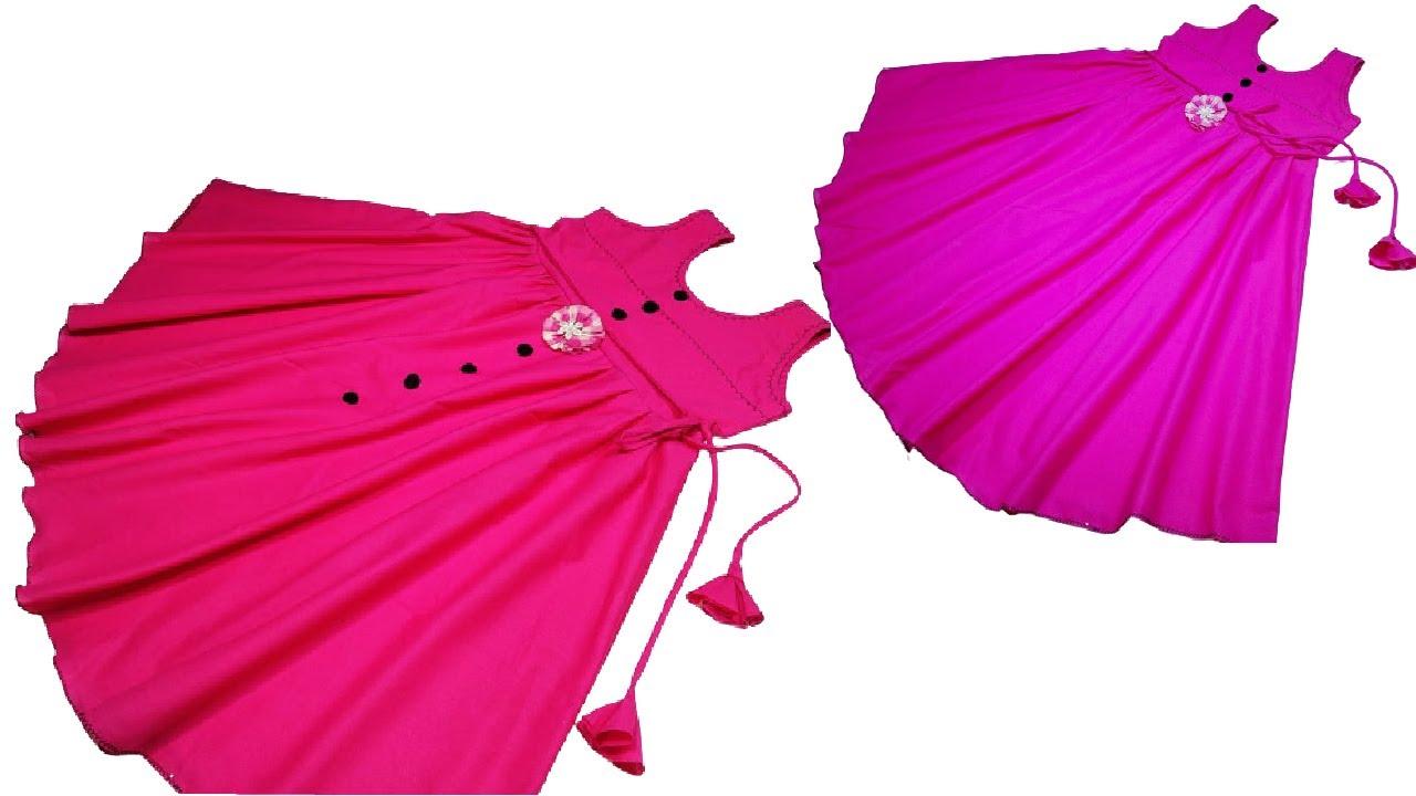 😍WOW এতকম খরচে ডিজাইনার জামা😮দেখে নিন সহজ নিয়ম।Umbrella frock.নতুনদের জন্য। beautiful fashion desig